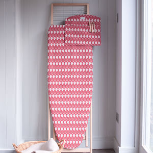 Isabella Red Ironing Board Cover - laundry room