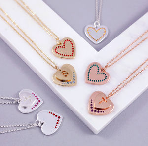Personalised Birthstone Heart Necklace - necklaces & pendants