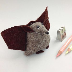 Handmade Soft Sculpture Paperweight Bat - decorative accessories