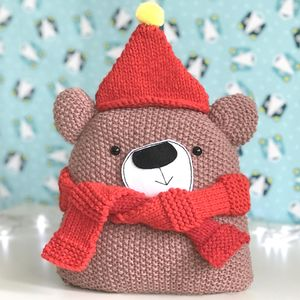 Chunky Christmas Bear Knitting Kit
