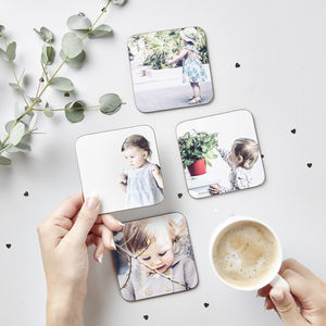 Baby's First Christmas Photo Coasters - secret santa gifts