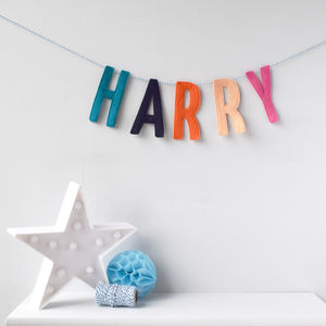 Personalised Letter Garland