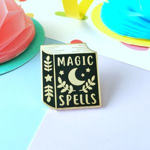 Book Of Spells Enamel Pin