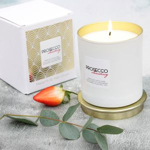 Prosecco Scented Candle With A Hint Of Strawberry - candles & home fragrance