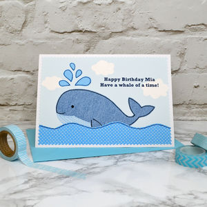'Whale' Personalised Birthday Card - birthday cards