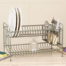Two Tier Industrial Grey Dish Rack