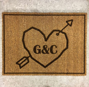 Couples Personalised Doormat - rugs & doormats