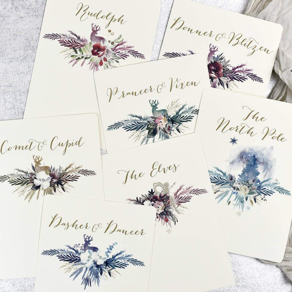 Ideas For Wedding Table Names: Christmas Wedding Table Names By Julia Eastwood