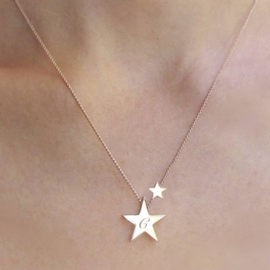 My lucky star personalised necklace by bloom boutique my lucky star personalised necklace mozeypictures Images