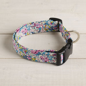 Bessie Liberty Fabric Dog Collar - dog collars