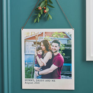 Personalised Metal Polaroid Print - stocking fillers