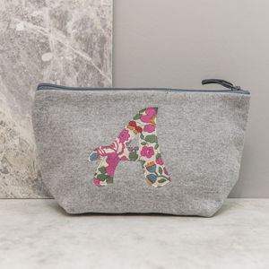 Liberty Print And Jersey Make Up Bag