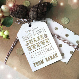 Personalised Gold Christmas Gift Tags