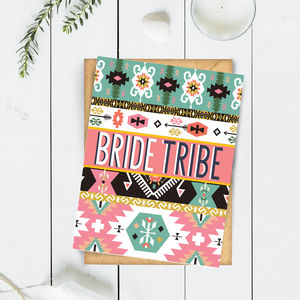 Bride Tribe Tribal Pattern Card