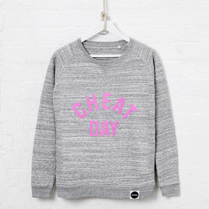 Cheat Day Organic Cotton Blend Sweatshirt, Strawberry - off to university
