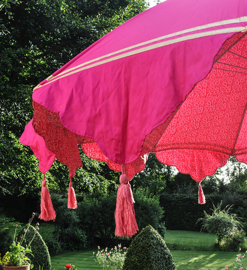 Garden Parasol With Tassels And Ribbons By East London