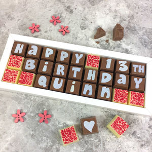 Personalised Birthday Chocolate Gift Box - gifts for him