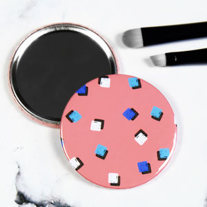 Square Print Patterned Pocket Mirror - gifts for teenage girls