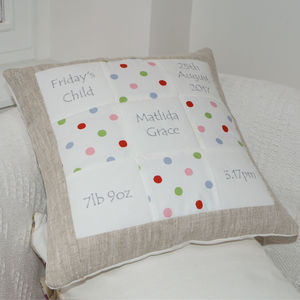 Spotty Memory Cushion - bedroom