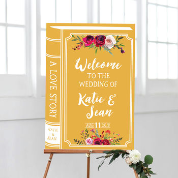 Love Story Welcome To Our Wedding Sign