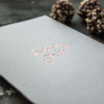 'Holy Shit' Rose Gold Foil Friendship Card