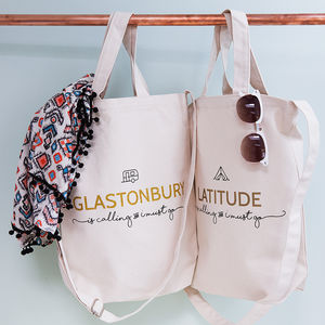 Personalised 'Festival Is Calling' Tote Bag - bags