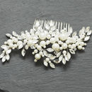 Pearl And Leaf Confetti Comb