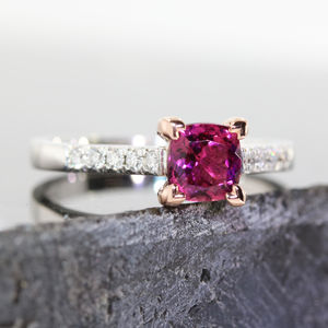Pixie Rubellite And Diamond Ring - engagement rings