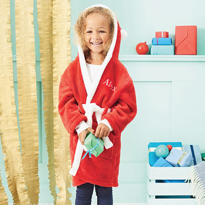 Personalised Red Santa Robe - baby's first christmas