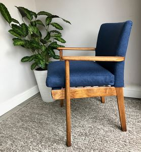 Parker Knoll 733 Midcentury Chair In Abraham Moon Wool - furniture