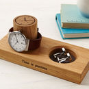 Personalised Cufflinks Tray And Watch Stand