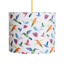 A Handmade 'Hummingbirds' Lamp Shade