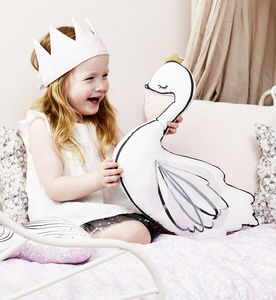 Swan Princess Pink Liberty Cushion - new gifts for babies