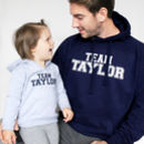 'Team Surname' Father And Child Hoodie Set - fashion