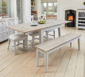 Ridley Grey Square Extending Dining Table