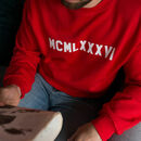 Mens Roman Numeral Year Sweatshirt
