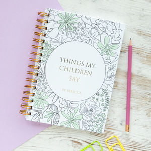 Personalised 'Things My Children Say' Notebook - stationery sale