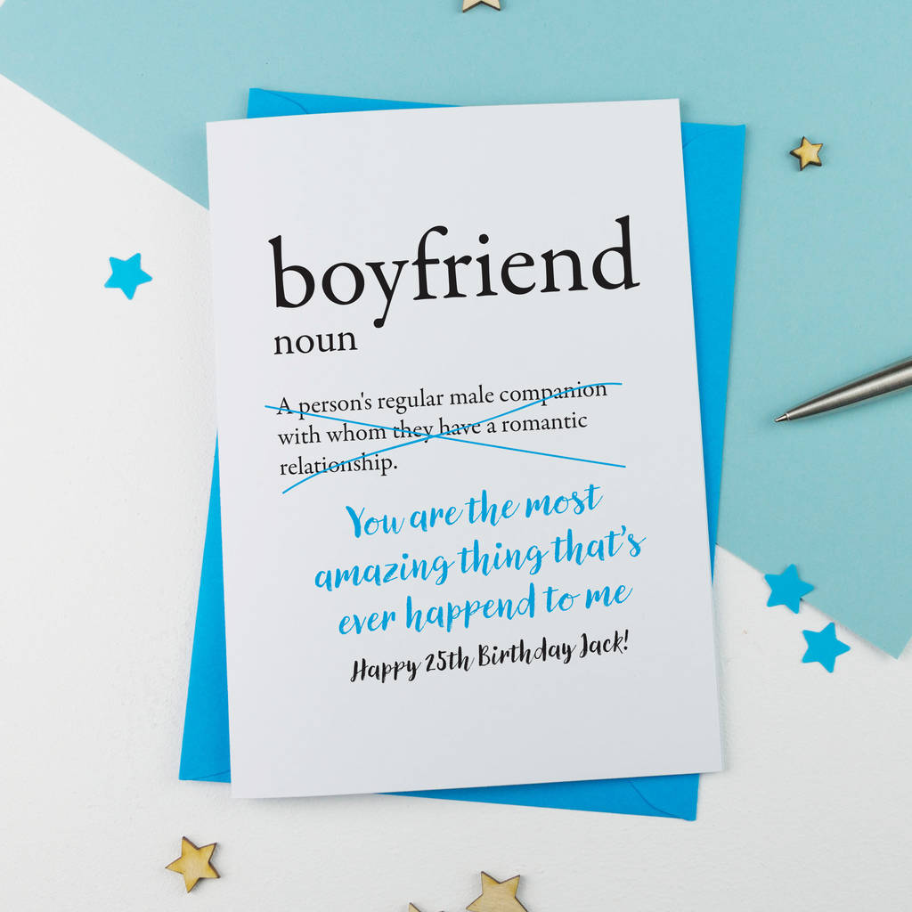 Birthday Card Boyfriend Birthday Card For Him Birthday: Birthday Card For Boyfriend Personalised By A Is For