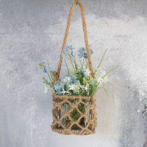 Rope Hanging Basket Vase - table decoration