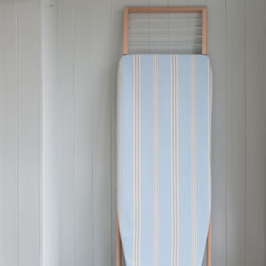 Eastnor Blue Stripe Ironing Board Cover - ironing