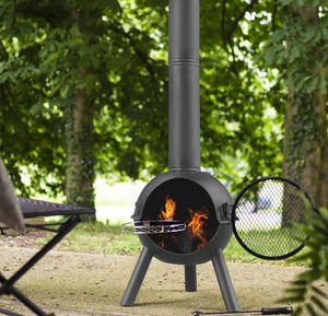 Chiminea With Cooking Grill - fire pits & outdoor heating
