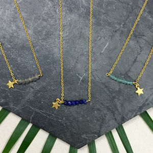 Gold Star And Gemstone Friendship Necklace - necklaces & pendants