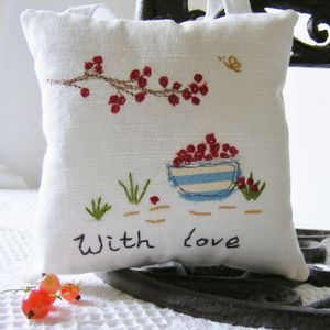 Personalised Lavender Pillow 'Berry'