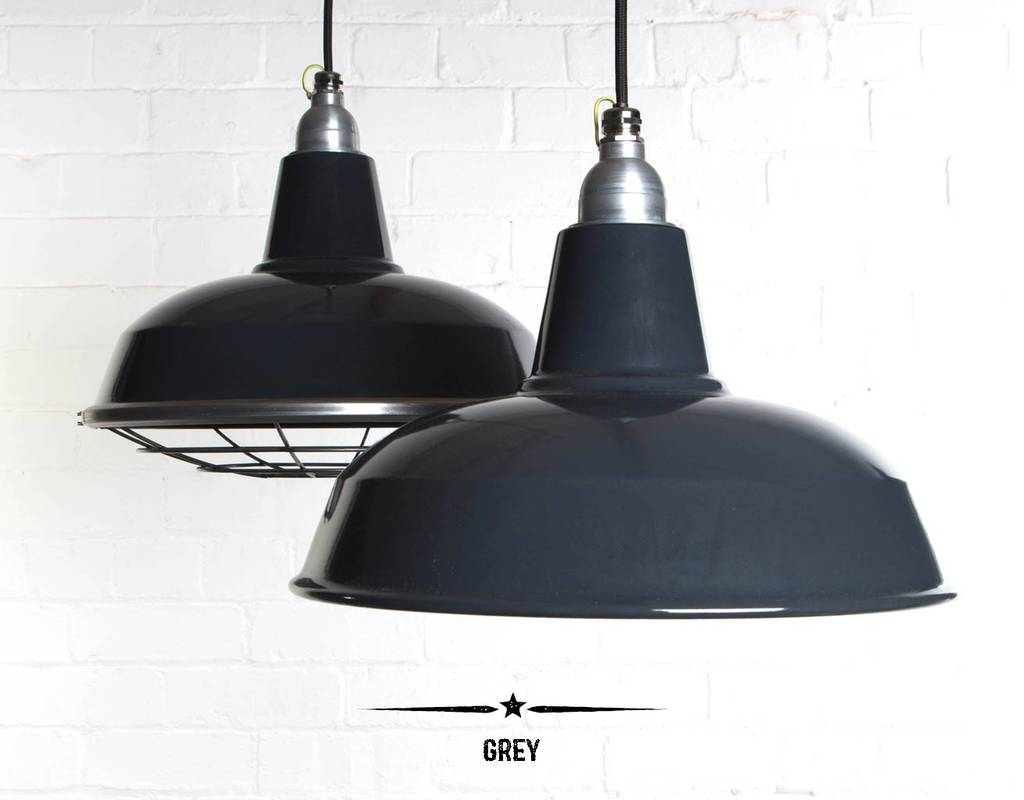 Burley Enamel Factory Pendant Light