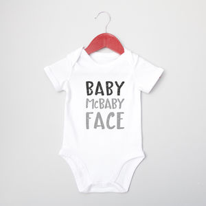 Baby Mc Baby Face Baby Grow - clothing