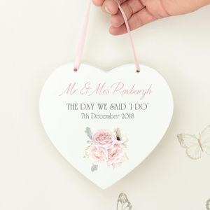 Charlotte White Wooden Wedding Hanging Heart - new in wedding styling