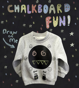 Good Day Bad Day Chalkboard Sweatshirt - sweatshirts & hoodies