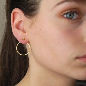 Indian Gold Two Way Hoop Earrings - jewellery sale