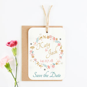 Country Floral Gem Save The Date