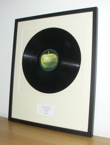 Additional Charge For Framed Vinyl Record